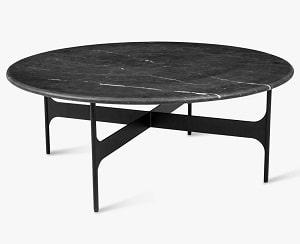Floema table large, sort marmor top