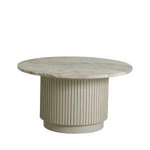 Nordal Erie Round Coffee Table - White Marble