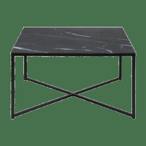 Dino sofabord 80x80cm med sort marmor tryk i sort