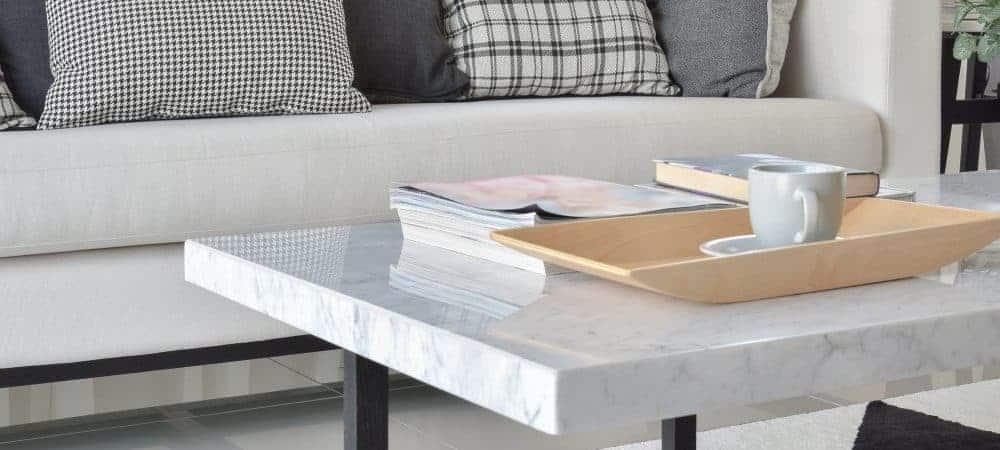 Marmor sofabord - De 10 flotteste sofaborde med marmorplade