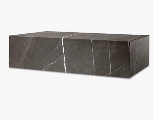 Skulpturelt Plinth Low marmorbord