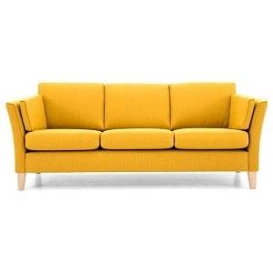 Cara 3 personers sofa i gul