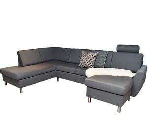 Celina u-sofa i antracitgrå