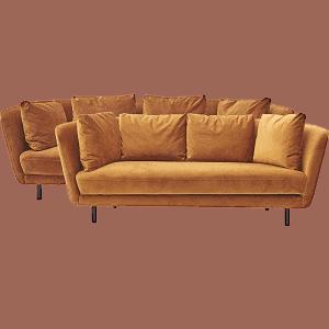 Gult petri sofasæt