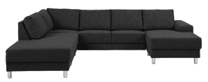 Johnston U-sofa i antracit stof