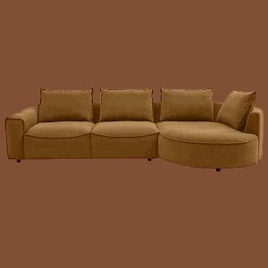 Yderst lækker Samone gul sofa med chaiselong