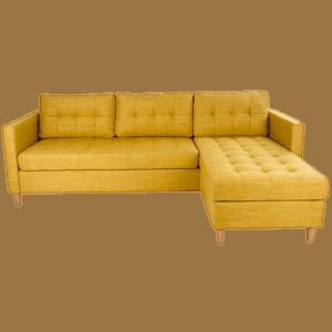 Karry gul vendbar Marino chaiselong sofa
