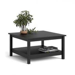 billigt sort sofia sofabord med hylde