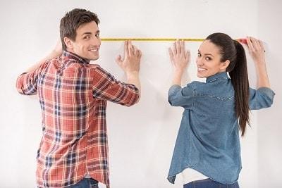 måler stuen op
