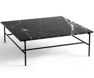 HAY Rebar kvadratisk sofabord i stål og marmor
